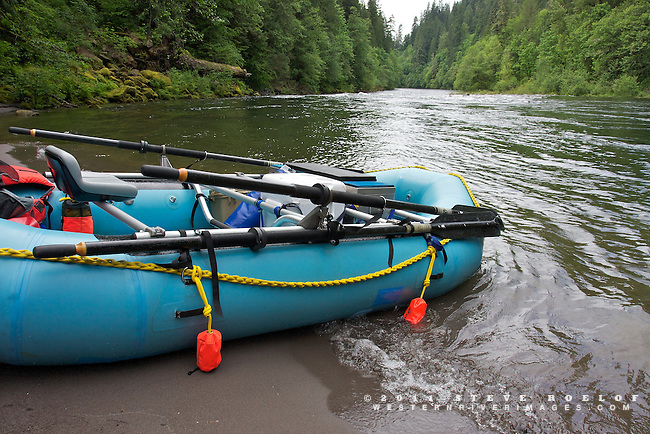 Whitewater raft along the Sandy River, Oregon.