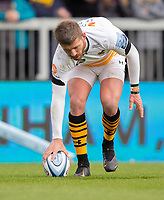Wasps' Willie Le Roux scores his sides first try<br /> <br /> Photographer Bob Bradford/CameraSport<br /> <br /> Gallagher Premiership - Exeter Chiefs v Wasps - Sunday 14th April 2019 - Sandy Park - Exeter<br /> <br /> World Copyright © 2019 CameraSport. All rights reserved. 43 Linden Ave. Countesthorpe. Leicester. England. LE8 5PG - Tel: +44 (0) 116 277 4147 - admin@camerasport.com - www.camerasport.com