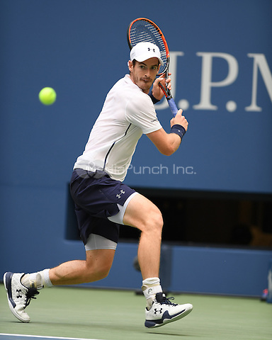 FLUSHING NY- SEPTEMBER 03: Andy Murray Vs Paolo Lorenzi on Arthur Ashe Stadium at the USTA Billie Jean King National Tennis Center on September 3, 2016 in Flushing Queens. Credit: mpi04/MediaPunch