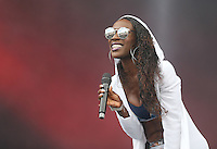 Elisabeth Troy who is on tour with Clean Bandit Performs with the band during The New Look Wireless Music Festival at Finsbury Park, London, England on Sunday 05 July 2015. Photo by Andy Rowland.