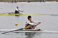 073 WindsorBoysSch J17A.1x..Marlow Regatta Committee Thames Valley Trial Head. 1900m at Dorney Lake/Eton College Rowing Centre, Dorney, Buckinghamshire. Sunday 29 January 2012. Run over three divisions.