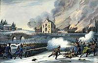 Bataille de Saint-Eustache, 14 décembre 1837 lors de la rebellion des Patriotes a Saint-Eustache