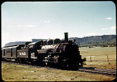 D&amp;RGW #477 K-28 with RPO west of Chama.<br /> D&amp;RGW  w. of Chama, NM  Taken by Maxwell, John W. - 7/2/1941
