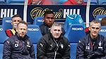 22.04.2018 Rangers v Hearts: Alfredo Morelos not happy on the bench