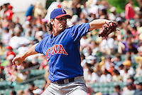May 19, 2009:  Jeff Samardzija of the Iowa Cubs, Pacific Cost League Triple A affiliate of the Chicago Cubs, during a game at the Spring Mobile Ballpark in Salt Lake City, UT.  Photo by:  Matthew Sauk/Four Seam Images