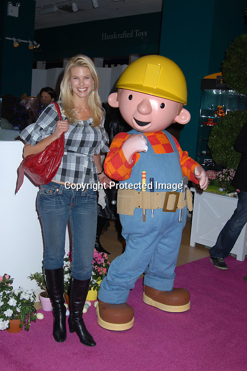 "Beth Ostrosky and Bob the Builder.. at the 16th annual Bunny Hop at ..FAO Schwarz benefitting ""The Society of Memorial Sloan-..Kettering Cancer Center  on March 13, 2007. ..Robin Platzer, Twin Images"