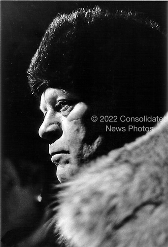 With a sombre profile, United States President Gerald R. Ford walked out in the cold Soviet night air during a break in his negotiations on the Strategic Arms Limitation Talks (S.A.L.T.) with the leaders of the Union of Soviet Socialist Republics (U.S.S.R.) in Vladivostock, USSR on November 23, 1974.<br /> Mandatory Credit: David Hume Kennerly / White House via CNP