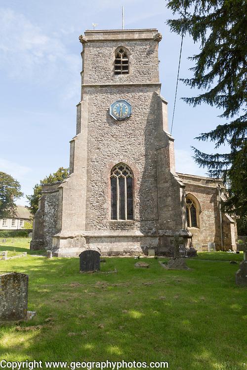 Village parish church of All Saints, Maiden Bradley, Somerset, England, UK
