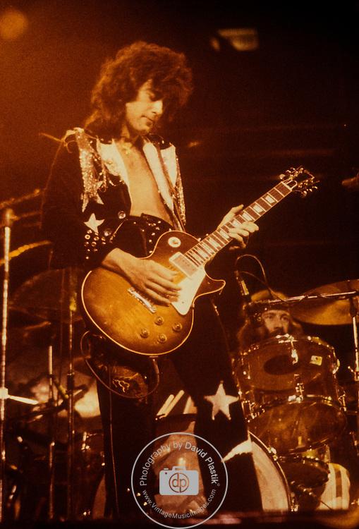 Jimmy Page of Led Zeppelin Photo by Joel Peskin/eRockPhotos.com