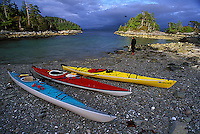 Sea Kayaking, Deer Group, Barkley Sound, West Coast Vancouver Island, B.C. Canada