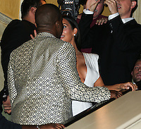 LAS VEGAS, NV, USA - OCTOBER 25: Kanye West, Kim Kardashian West arrive at Kim Kardashian West's 34th Birthday Celebration held at TAO Nightclub at The Venetian Las Vegas on October 25, 2014 in Las Vegas, Nevada, United States. (Photo by Xavier Collin/Celebrity Monitor)