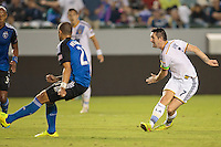 Carson, California - Friday, Aug. 8, 2014: The LA Galaxy and San Jose Earthquakes played to a 2-2 tie in a Major League Soccer (MLS) match at StubHub Center stadium.