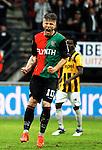 Nederland, Nijmegen, 10 mei 2012.Seizoen 2011/2012.Eredivisie.N.E.C.-Vitesse 3-2.Lasse Schone van NEC  juicht na het scoren van de 2-2 en gaat uit zijn dak