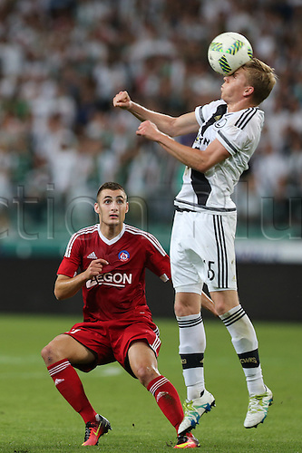 03.08.2016, Warsaw, Poland,  Michal Kopczynski (Legia), Legia Warsaw versus AS Trencin, Champions League, qualification. The game  ended in a 0-0 draw with Legio going through on away goal.