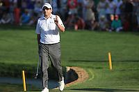 Ben Curtis (USA) walks onto the 18th green during Sunday's Final Round of the 2012 Omega Dubai Desert Classic at Emirates Golf Club Majlis Course, Dubai, United Arab Emirates, 12th February 2012(Photo Eoin Clarke/www.golffile.ie)