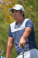 Byeong Hun An (KOR) looks over his tee shot on 2 during day 1 of the Valero Texas Open, at the TPC San Antonio Oaks Course, San Antonio, Texas, USA. 4/4/2019.<br /> Picture: Golffile   Ken Murray<br /> <br /> <br /> All photo usage must carry mandatory copyright credit (&copy; Golffile   Ken Murray)