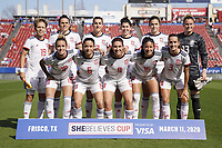11th March 2020, Frisco, Texas, USA;  Spanish team pose for photo before the 2020 SheBelieves Cup Womens International Friendly football match between England Women vs Spain Women at Toyota Stadium in Frisco, Texas