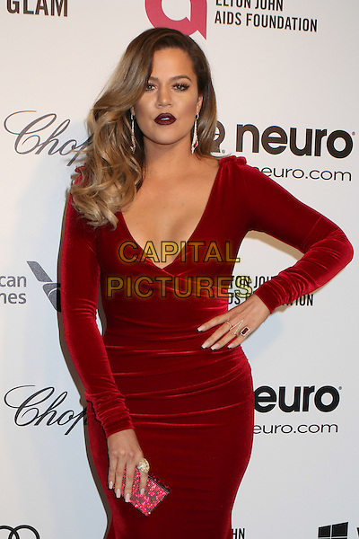 WEST HOLLYWOOD, CA - MARCH 2: Khloe Kardashian attending the 22nd Annual Elton John AIDS Foundation Academy Awards Viewing/After Party in West Hollywood, California on March 2nd, 2014. <br /> CAP/MPI/COR99<br /> &copy;COR99/MediaPunch/Capital Pictures