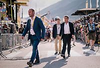 former French president Nicolas Sarkozy at the finish<br /> <br /> Stage 10: Annecy &gt; Le Grand-Bornand (159km)<br /> <br /> 105th Tour de France 2018<br /> &copy;kramon