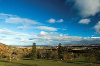 Looking across Lothian from the Tytler Memorial near Boghall, The Pentland Hills, The Pentland Hills Regional Park, Lothian
