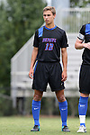 30 August 2015: DePaul's Austin Harrell. The Duke University Blue Devils hosted the DePaul University Blue Demons at Koskinen Stadium in Durham, NC in a 2015 NCAA Division I Men's Soccer match.