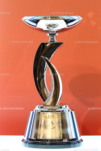Suruga bank Championship Trophy,<br /> FEBRUARY 19, 2015 - Football / Soccer : <br /> 2015 J.LEAGUE Press Conference <br /> at Grand Prince Hotel Shin-Takanawa, Tokyo, Japan. <br /> (Photo by Shingo Ito/AFLO SPORT)