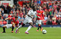 Pictured: Nathan Dyer of Swansea. Saturday 16 August 2014<br /> Re: Premier League Manchester United v Swansea City FC at the Old Trafford, Manchester, UK.