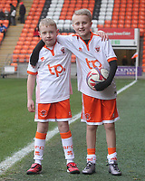 Blackpool's Mascots<br /> <br /> Photographer Mick Walker/CameraSport<br /> <br /> The EFL Sky Bet League One - Blackpool v Bristol Rovers - Saturday 13th January 2018 - Bloomfield Road - Blackpool<br /> <br /> World Copyright &copy; 2018 CameraSport. All rights reserved. 43 Linden Ave. Countesthorpe. Leicester. England. LE8 5PG - Tel: +44 (0) 116 277 4147 - admin@camerasport.com - www.camerasport.com