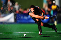 NZ's Hayden Shaw during the international hockey match between the New Zealand Black Sticks and Malaysia at Fitzherbert Park, Palmerston North, New Zealand on Sunday, 9 August 2009. Photo: Dave Lintott / lintottphoto.co.nz