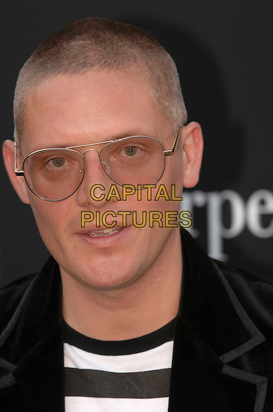 GILES DEACON.Serpentine Gallery Summer Party, Kensington Park Gardens, Hyde Park, London England, 11th July 2007 .portrait headshot glasses black and white striped top stripes.CAP/FIN.©Steve Finn/Capital Pictures