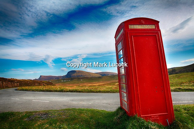 Telephone Box, Trotternish, Isle of Skye, Scotland