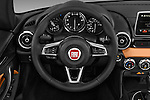 Car pictures of steering wheel view of a 2018 Fiat 124-Spider 1.4-Lusso 2 Door Convertible Steering Wheel