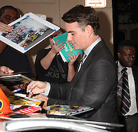 NEW YORK, NY - OCTOBER 19:  Jeff Gordon signs autographs and takes photos with fans as he leaves 'Live with Kelly'  in New York, New York on October 19, 2016.  Photo Credit: Rainmaker Photo/MediaPunch