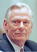 Washington, DC - February 13, 1997 - Herbert D. Kelleher, Chairman, President and CEO of Southwest Airlines Co.  during testimony before the United States House Subcommittee on Aviation concerning proposals to establish user fees for FAA services in Washington, DC on February 13, 1997.<br /> Credit: Ron Sachs / CNP dpa Picture-Alliance OUT