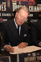 Frank Warren during a Press Conference at The Gore Hotel on 6th March 2019
