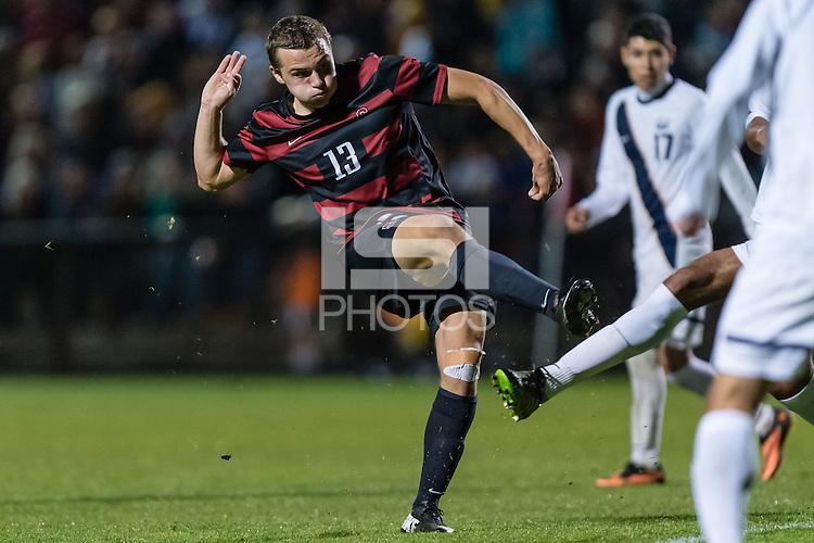 November 13, 2013:  Jordan Morris during the Stanford vs Cal men's soccer match in Stanford, California.  Stanford won 2-1 in overtime.