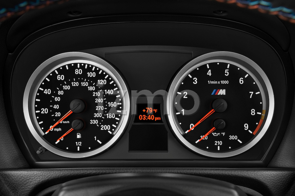 Instrument panel close up detail view of a 2008 BMW M3 Convertible