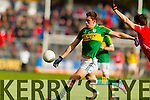 David Moran Kerry in action against Jamie O'Sullivan Cork in the National Football League at Pairc Ui Rinn, Cork on Sunday.