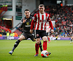 Kenny McLean of Norwich City keeps close to John Fleck of Sheffield Utd during the Premier League match at Bramall Lane, Sheffield. Picture date: 7th March 2020. Picture credit should read: Simon Bellis/Sportimage