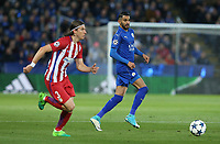 Leicester City's Riyad Mahrez and Atletico Madrid's Filipe Luis<br /> <br /> Photographer Stephen White/CameraSport<br /> <br /> The EFL Sky Bet Championship - Blackburn Rovers v Bristol City - Monday 17th April 2017 - Ewood Park - Blackburn<br /> <br /> World Copyright &copy; 2017 CameraSport. All rights reserved. 43 Linden Ave. Countesthorpe. Leicester. England. LE8 5PG - Tel: +44 (0) 116 277 4147 - admin@camerasport.com - www.camerasport.com