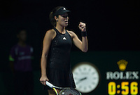 ANA IVANOVIC (SRB)<br /> <br /> The BNP Paribas WTA Finals 2014 - The Sports Hub - Singapore - WTA  2014  <br /> <br /> 20 October 2014<br /> <br /> &copy; AMN IMAGES