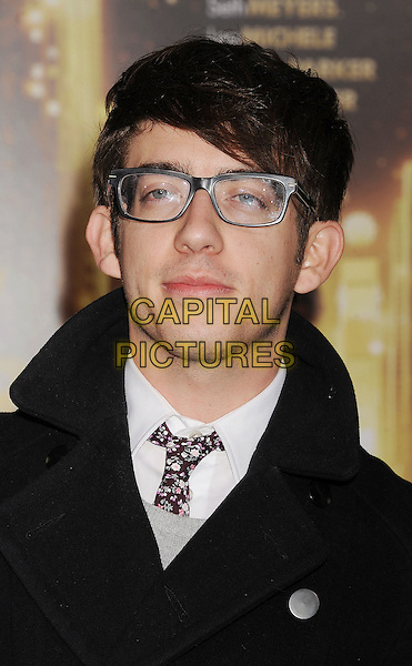 """Kevin McHale.The World Premiere of """"New Year's Eve' held at The Grauman's Chinese Theatre in Hollywood, California, USA..December 5th, 2011.headshot portrait black glasses.CAP/ROT/TM.©Tony Michaels/Roth Stock/Capital Pictures"""