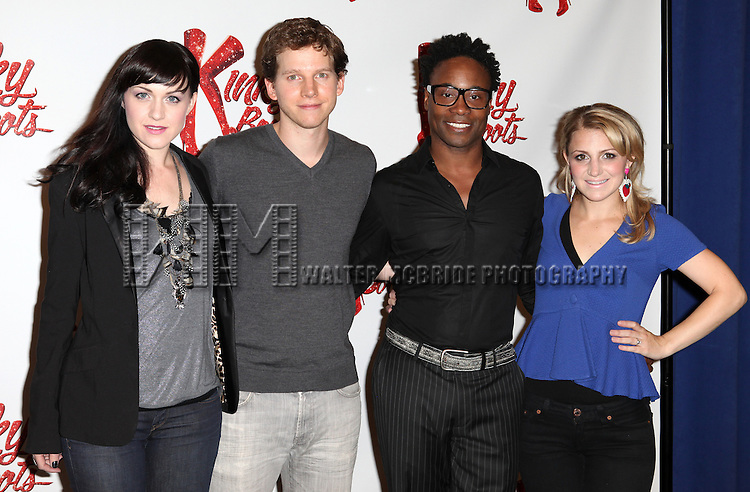 Celina Carvajal,Stark Sandss, Billy Porter & Annaleigh Ashford attending the Meet & Greet the Cast & Creative Team of the New Broadway Musical 'Kinky Boots' at the New 42nd Street Studios in New York City on September 14, 2012.