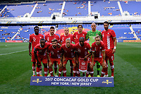 Harrison, NJ - Friday July 07, 2017: Canada Starting Eleven during a 2017 CONCACAF Gold Cup Group A match between the men's national teams of French Guiana (GUF) and Canada (CAN) at Red Bull Arena.