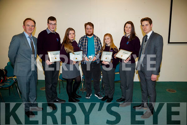Coláiste Gleann Lí students, pictured at the Kerry Education and Training Board student awards night, at the Institute of Technology, Tralee on Friday night last, were l-r: Luke Stack, Blanka Siekaniec, Paul McCarthy, Melanie Smith and Jasmine Griffin.