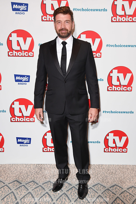 LONDON, UK. September 10, 2018: Nick Knowles at the TV Choice Awards 2018 at the Dorchester Hotel, London.<br /> Picture: Steve Vas/Featureflash