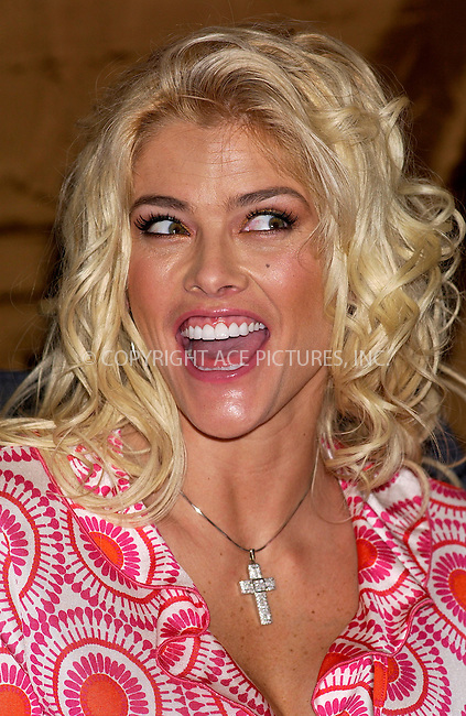 WWW.ACEPIXS.COM . . . . . ....NEW YORK, APRIL 7, 2005....Anna Nicole Smith as spokeswoman for the National Enquirer signs autographs at a launch party for the improved National Enquirer at Grand Central.....Please byline: KRISTIN CALLAHAN - ACE PICTURES.. . . . . . ..Ace Pictures, Inc:  ..Craig Ashby (212) 243-8787..e-mail: picturedesk@acepixs.com..web: http://www.acepixs.com