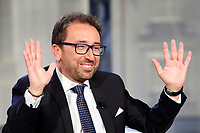 Alfonso Bonafede<br /> Rome February 27th 2019. The Italian Minister of Justice appears as a guest on the tv show Porta a Porta<br /> Foto Samantha Zucchi Insidefoto