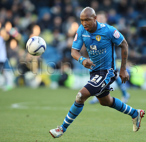 18.11.2012 London, England. ..El Hadji Diouf of Leeds United ..in action during the FA NPower Championship league game between Millwall and Leeds United from The Den...........