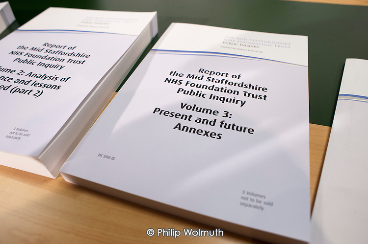 Public Inquiry Report into the  Mid-Staffordshire NHS Foundation Trust  Westminster, London.
